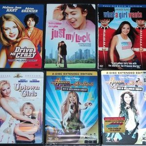 DVDs - Including a Brand New Sealed Disney Hannah